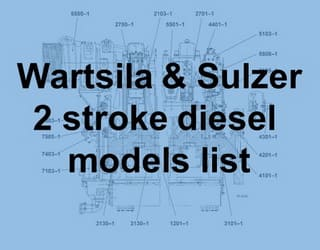 PDF Manuals and Parts Catalog for Wartsila and Sulzer 2 stroke engine