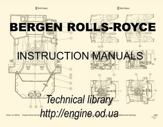 PDF Manuals and Parts Catalog for Bergen engine