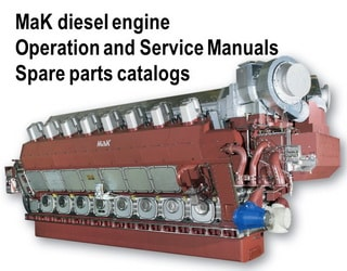 PDF Manuals and Parts Catalog for MAK engine