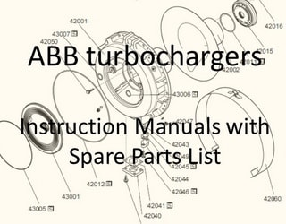 PDF Manuals and Parts Catalog for Turbochargers ABB