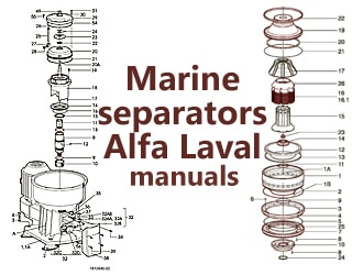 PDF Manuals with Spare Parts List for Separator Alfa-Laval