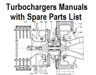 Turbochargers for marine diesel engines and spare parts