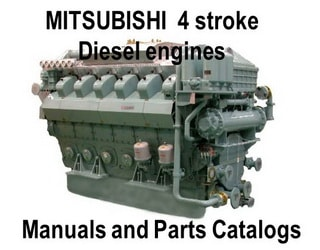 PDF Manuals and Parts Catalog for MITSUBISHI 4-str. engine