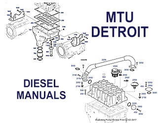 PDF Manuals and Parts Catalog for DETROIT & MTU engine