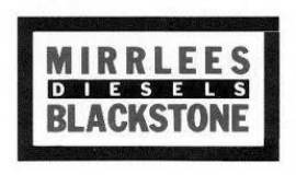 Mirrlees Blackstone K Major Diesel Engine spares (New)