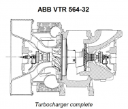 ABB VTR-564P32 Turbocharger spares for sell