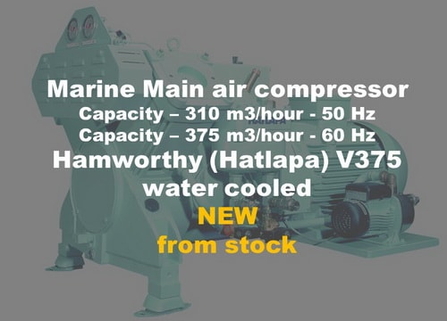 Marine compressor V375 from stock