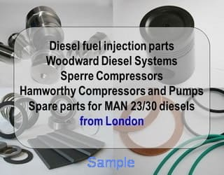 Diesel fuel valve and spares