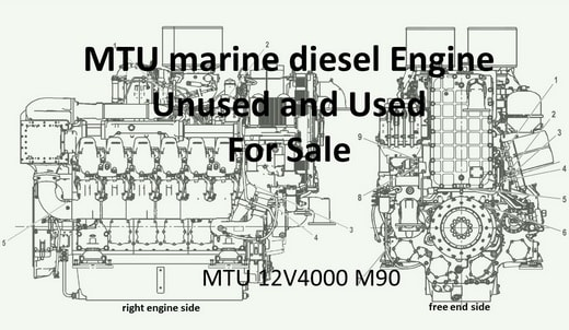 MTU marine diesel 12V4000 M90 for sell